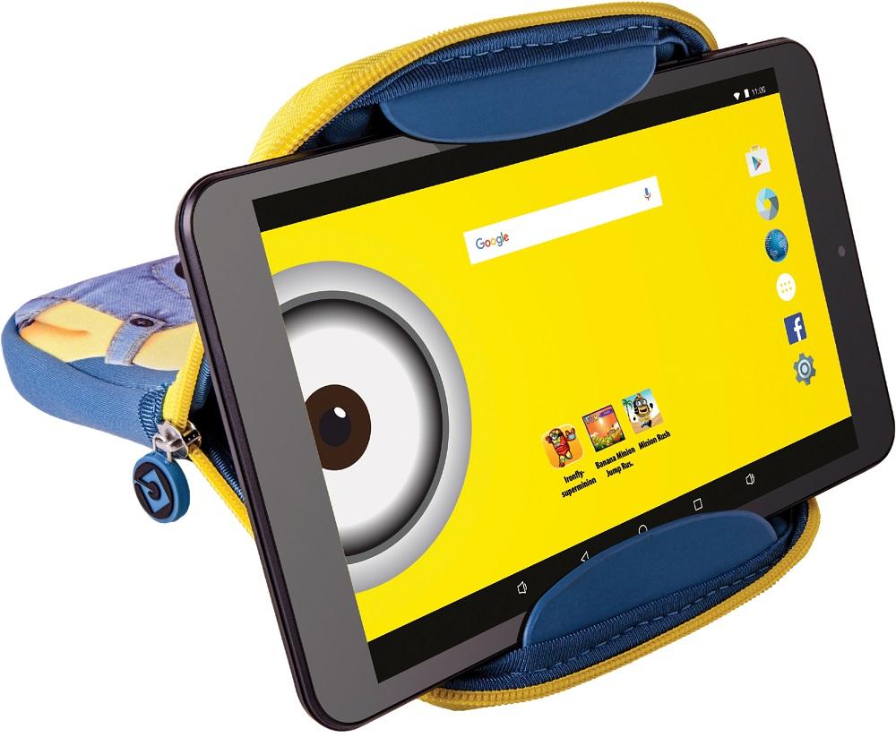 eSTAR Themed Tablet 8/ARM A7 QC 1.2GHz/512MB/8GB/0.3MP/WiFi/Android 5.1/Black/Minion futrola
