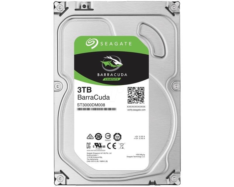 SEAGATE 3TB 3.5 SATA III 64MB 7.200 ST3000DM008 Barracuda Guardian