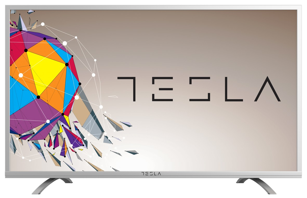Tesla TV 43S356SF, 43 TV LED, slim DLED, DVB-T2/C/S2, Full HD, silver, metal
