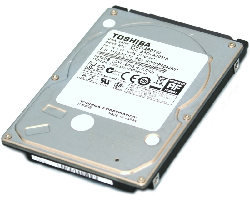 TOSHIBA 1TB 2.5 SATA II 8MB 5.400rpm MQ01ABD100