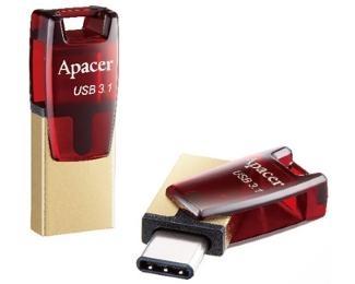 APACER 64GB AH180 USB 3.1 Tip C flash crveni