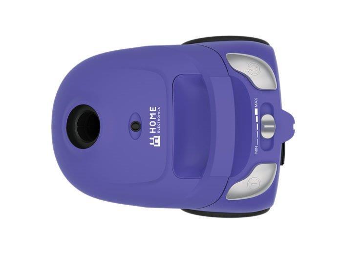 Usisivač VC-18002BL(plavi) Home Electronics, Regulator jačine, 1 tekstilna+2 papirne kese, 2 dodatka