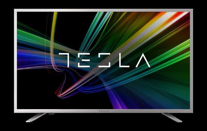 Tesla TV 43S606SUS, 43 TV LED, slim DLED, DVB-T2/C/S2, Ultra HD, Opera Smart, silver, metal