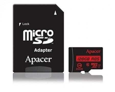 APACER UHS-I U1 MicroSDXC 128GB class 10 + Adapter AP128GMCSX10U5-R