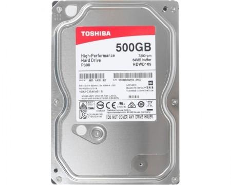 TOSHIBA 500GB 3.5 SATA III 64MB 7.200rpm HDWD105UZSVA P300 series