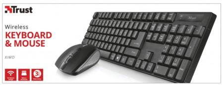 Trust XIMO bezicni tastatura i mis crni