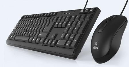 Click KM-L0 Tastatura i miš žičani USB, YU, crni