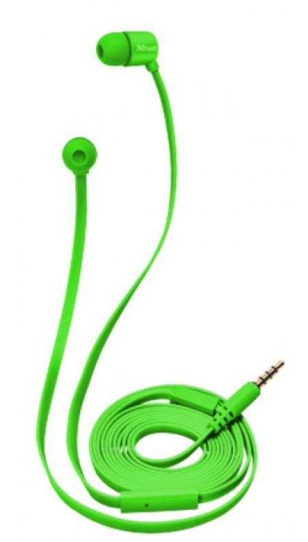 Trust Urban Duga slusalice neon zelene