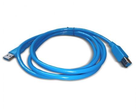 FAST ASIA Kabl USB 3.0 - USB 3.0 B M/M 1.8m plavi