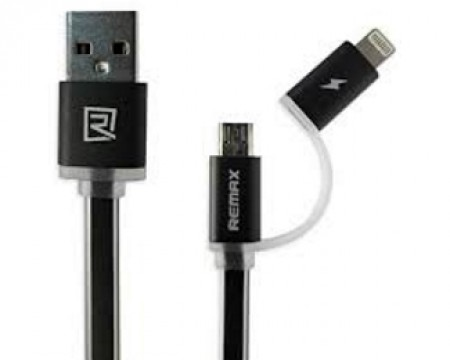 REMAX Kabl Aurora za iPhone 7/6/5 + micro 1m crni