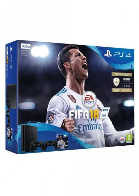 PlayStation PS4 500GB + FIFA 18 + Dualshock (029282)