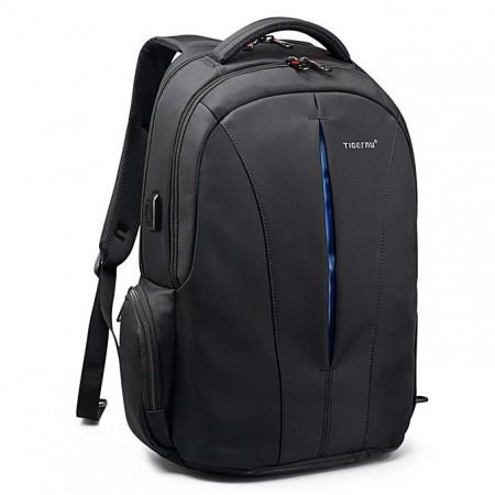 Ranac za laptop T-B3105 USB 15.6 Black Blue (029830)