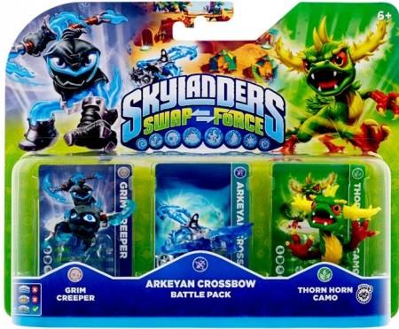 Skylanders SWAP Force Battle Pack (Grim Creeper + Arkeyan Crossbow + Thorn Horn Camo) (019284)