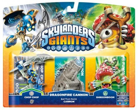 Skylanders GIANTS Battle Pack 1 (Chop Chop + Shroomboom + Cannon Piece) (016766)