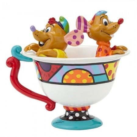 Jaq & Gus In Teacup Figurine  (025925)