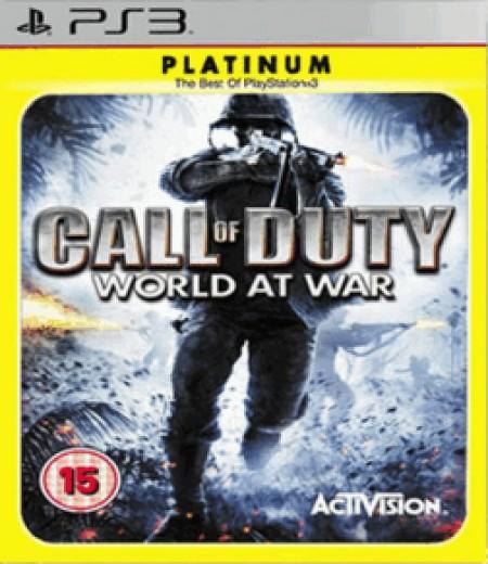 PS3 Call of Duty World at War Platinum (011810)