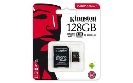MICRO SD.128GB KINSTON + SD adapter SDCS128GB