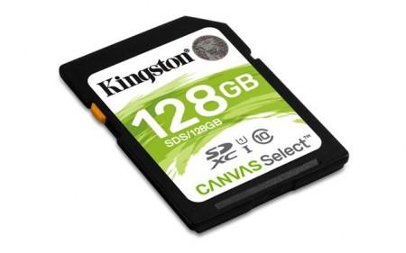 SECURE DIGITAL CARD.128GB KINGSTON SDS128GB