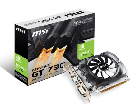 MSI nVidia GeForce GT 730 2GB 64bit N730K-2GD3/OCV1