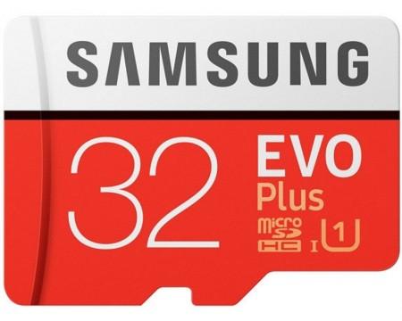 SAMSUNG EVO PLUS UHS-I MicroSDHC 32GB class 10 + Adapter MB-MC32GA