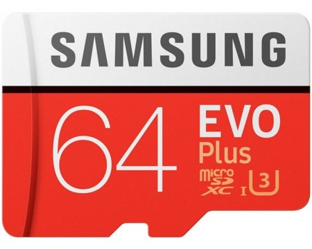 SAMSUNG EVO PLUS UHS-I MicroSDXC 64GB class 10 + Adapter MB-MC64GA