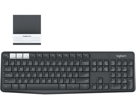 LOGITECH K375s Bluetooth Multi-Device Wireless US crna tastatura + Stand