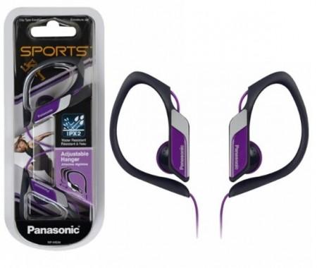 PANASONIC slušalice RP-HS34E-V ljubičaste, sportske, vodootporne