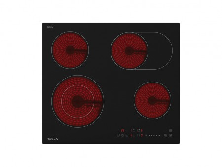 Tesla staklokeramicka ploca HV6410MX,4 zone, 2 proširene,60cm,inox rub