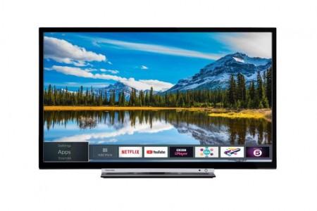Toshiba 32W3863DG LED TV 32 HD Ready, SMART, T2, Black, uni-stand