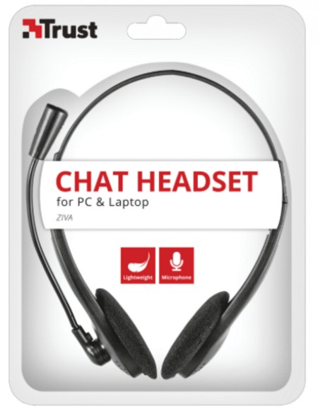 Trust Ziva Chat Headset crni