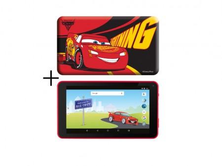 eSTAR Themed Tablet Cars 3 7 ARM A7 QC 1.2GHz1GB8GB0.3MPWiFiAndroid 7.1RedCars futrola