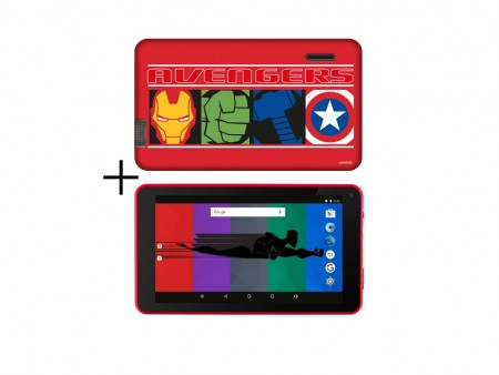 eSTAR Themed Tablet Avengers 7 ARM A7 QC 1.3GHz1GB8GB0.3MPWiFiAndroid 7.1Futrola