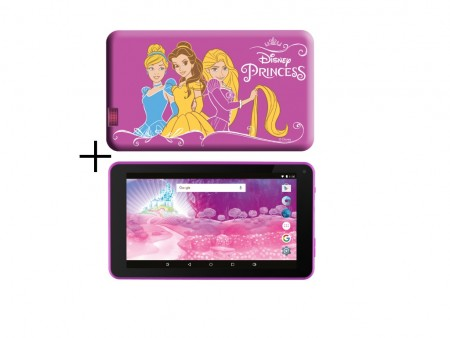 eSTAR Themed Tablet Princess 7 ARM A7 QC 1.2GHz1GB8GB0.3MPWiFiAndroid 7.PinkPrincess Futrola