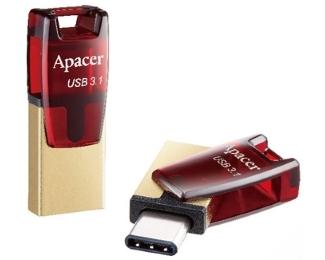 APACER 16GB AH180 USB 3.1 Tip C flash crveni