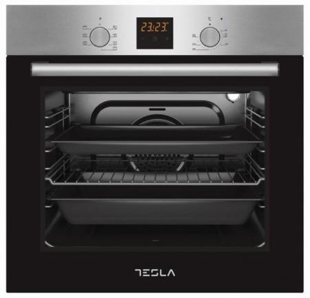 Tesla ugradna rerna BO800SX,8 funkcija,crna-inox