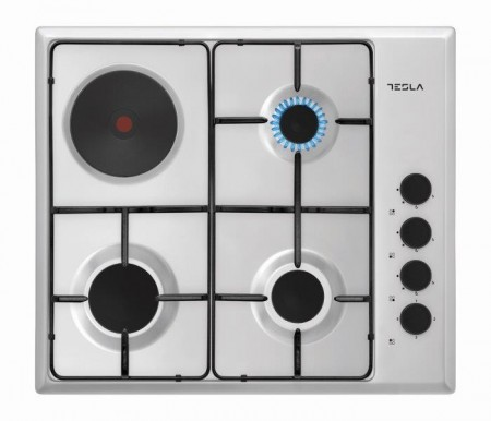 Tesla kombinovana ploca HM6310SX,4 zone,1 elekt.ringla+3 gas,60cm,inox