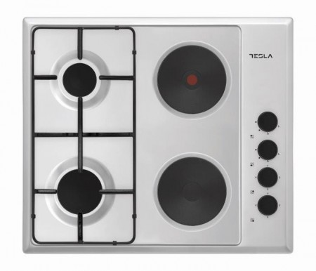 Tesla kombinovana ploca HM6220SX,4 zone,2 elekt.ringle+2 gas,60cm,inox