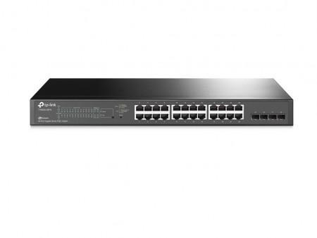 TP Link TL-SG2424P JetStream 24-Port Gigabit Smart PoE+Switch with 4 SFP