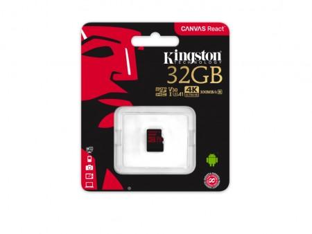 Kingston microSD 32GB 100MBs-70MBs, UHS-I Video Speed Class (V30) SDCR32GB' ( 'SDCR32GBSP' )