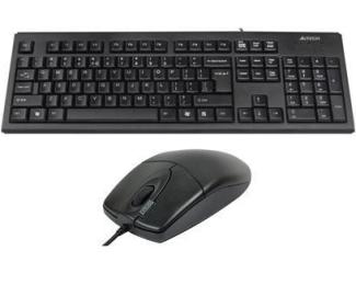 A4 TECH KRS-8372 USB US crna tastatura + USB crni miš