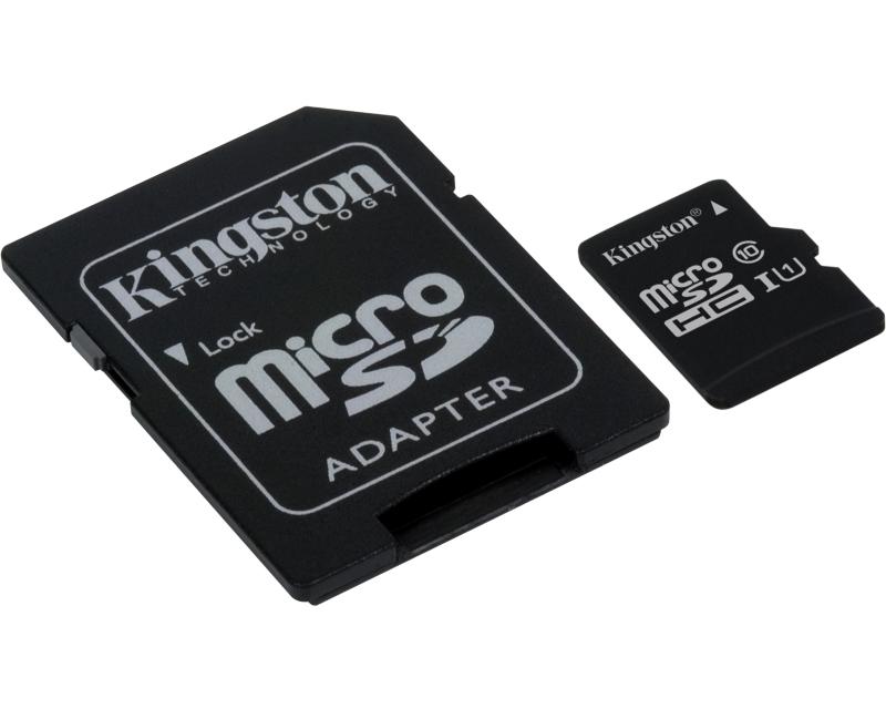 KINGSTON UHS-I MicroSDHC 32GB class 10 + adapter SDC10G2/32GB