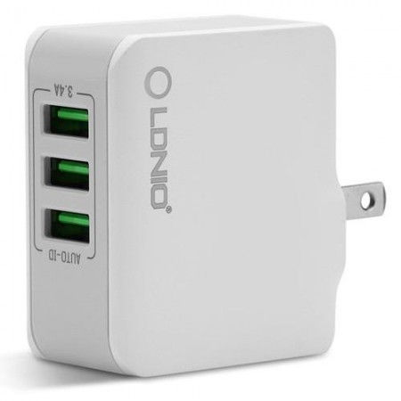 LDNIO USB Charger 3 Ports 5V/3,4A 17W White ( A3303 )