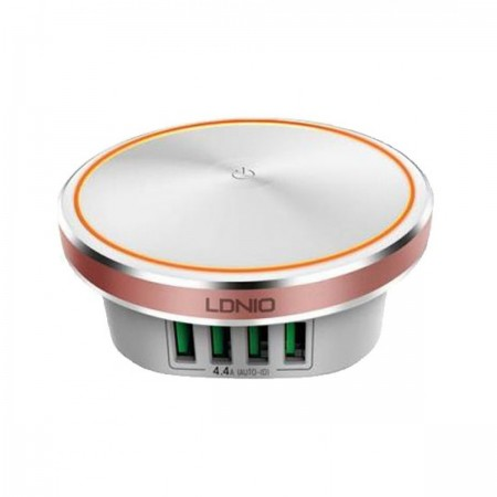 LDNIO USB Charger 4 Ports 5V/4.4A 22W White ( A4406 )