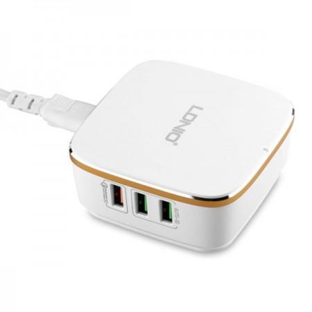 LDNIO USB Charger 6 Ports 5V/2.4A - 9V/1,67A 50W White ( A6704 )
