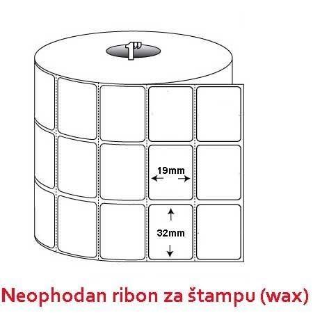 Rolna etiketa bela vellum 32x19 3 kolone 10000 kom TT