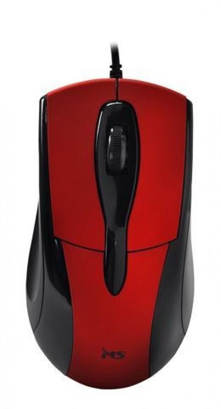 MI212 MS SKIPPER_3 žičani miš, crveni