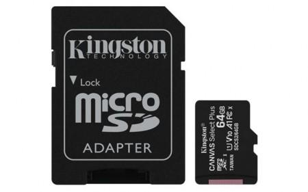 MICRO SD 64GB KINGSTON + SD adapter SDCS264GB