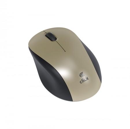 Click M-W2-W Miš bežični USB, zlatni