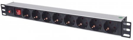LAN Intellinet 19 1U Rackmount razvodni panel sa 8mesta, 3m