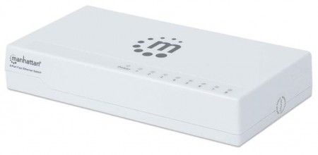 INT MH 8-Port Fast Ethernet Switch, Plastic